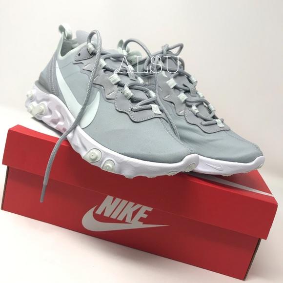 Nike Shoes - NWT Nike React Element 55 Wolf Grey Aqua W AUTHENT